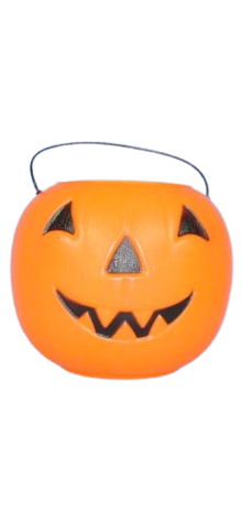 Orange Big Jack Pumpkin Pail With Handle photo