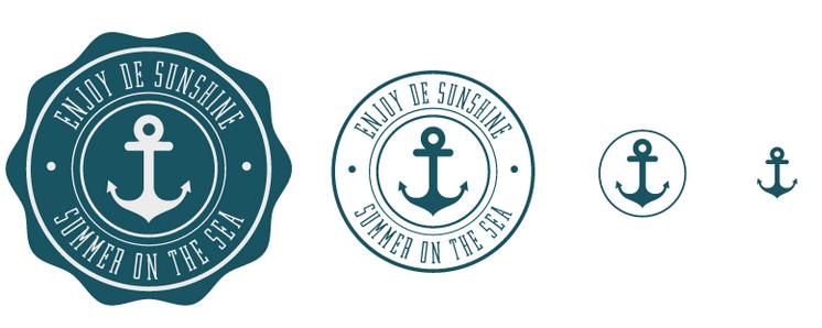Imagem de uma logo em vários tamanhos