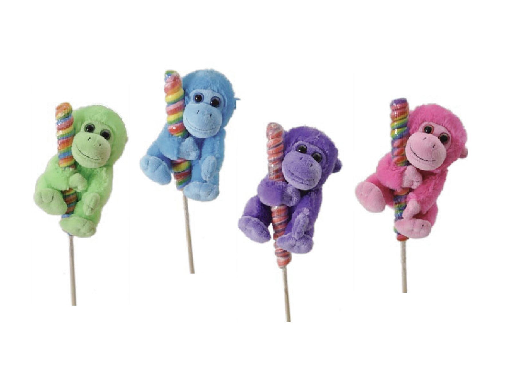"The Petting Zoo: 7"" Lolly Plush Monkey Assortment"