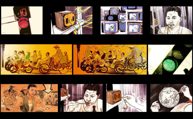 Storyboard for the first MTV Asia video-clip ever shot in Vietnam