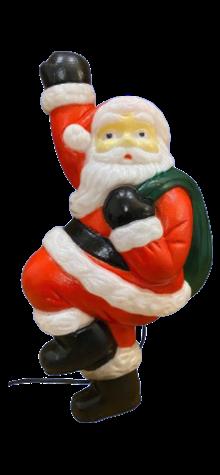 Climbing Santa photo