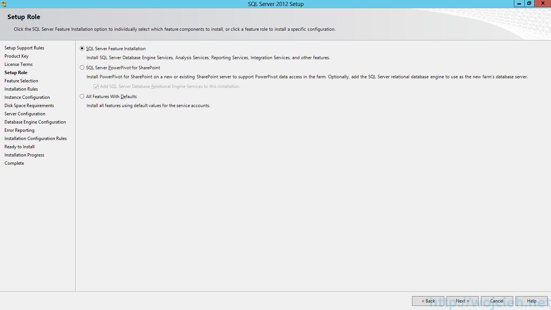 SQL Server 2012 SP1 - Setup Role