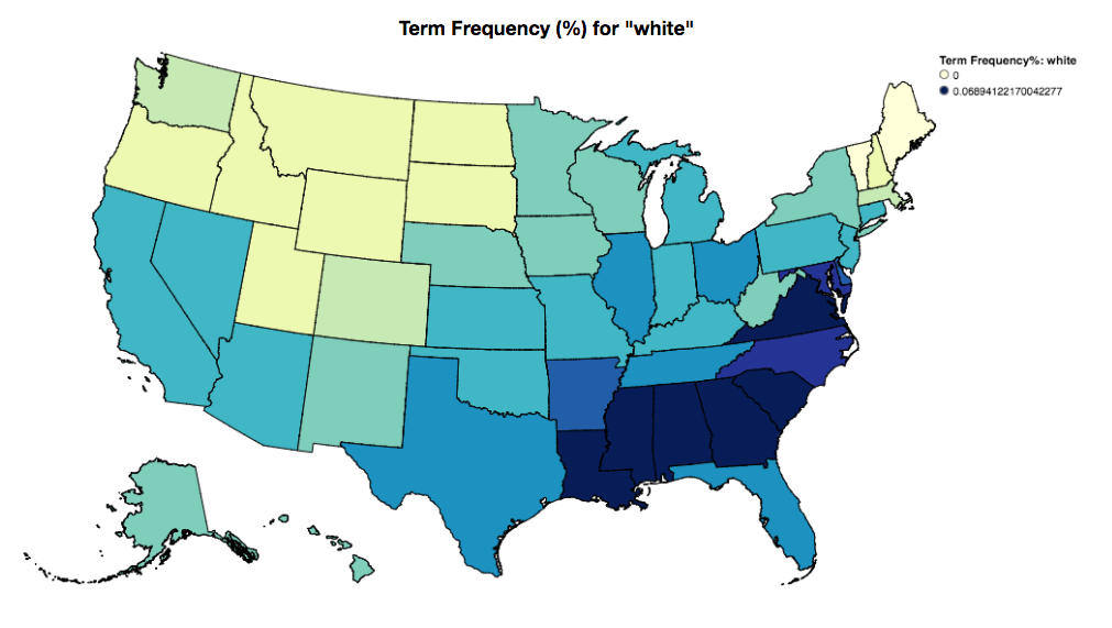 white frequency choropleth
