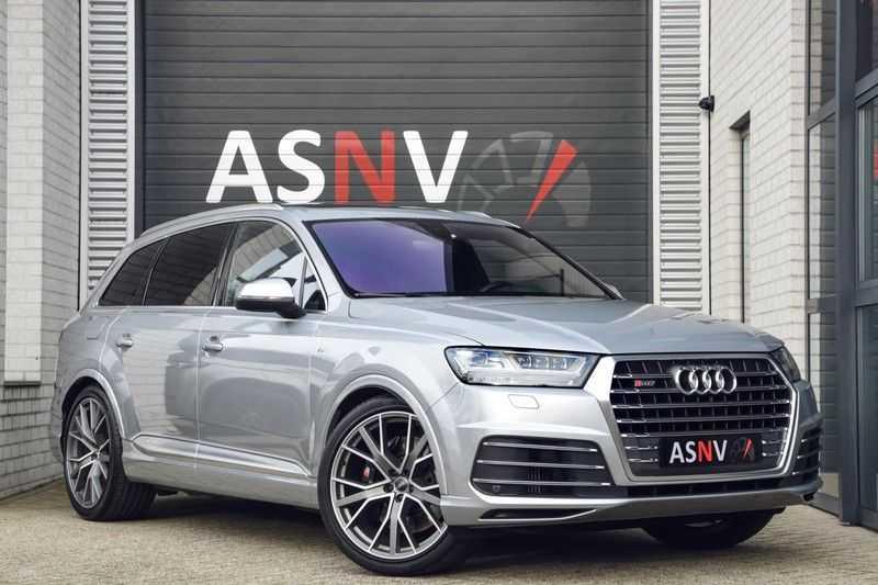 Audi SQ7 4.0 TDI Quattro Pro Line + , 435 PK, Valcona/Leder, Pano/Dak, 2017, Bose, 22'', Elekt. Trekhaak, 79DKM!! afbeelding 1