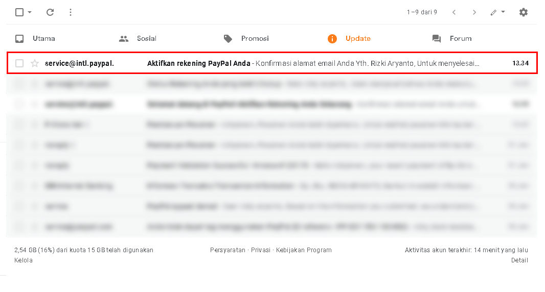 Kumpulan pesan email