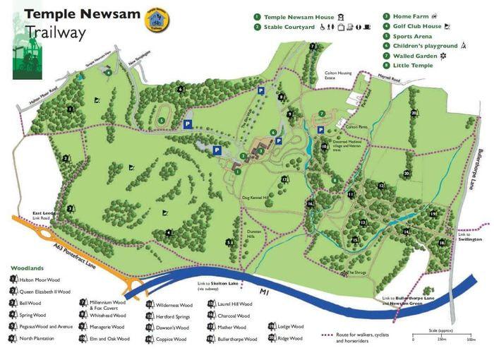 Map of Temple Newsam