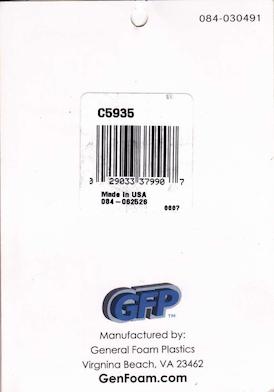 General Foam Plastics Gold Nutcracker Tag #084-030491, C5935 preview