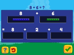Add within 20 (decomposing numbers leading to a ten) Math Game