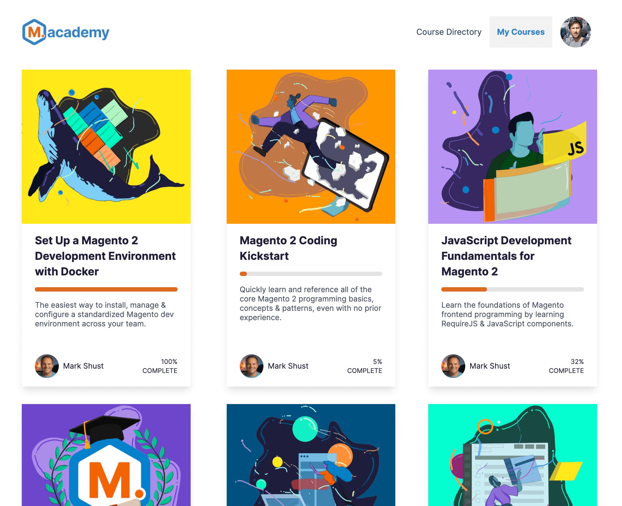 M.academy course portal