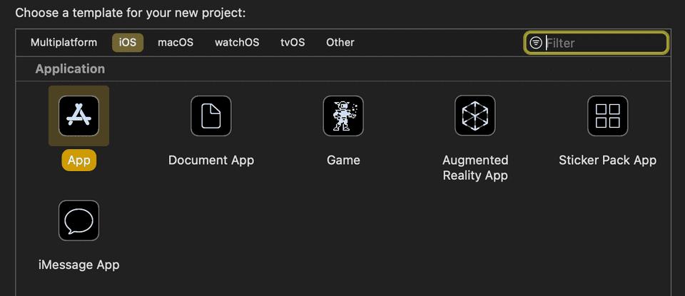 XCode create app