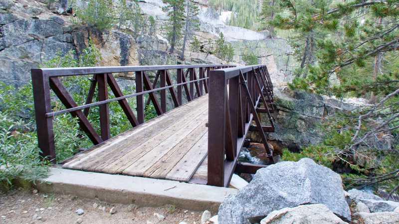 A bridge crossing Fish Creek