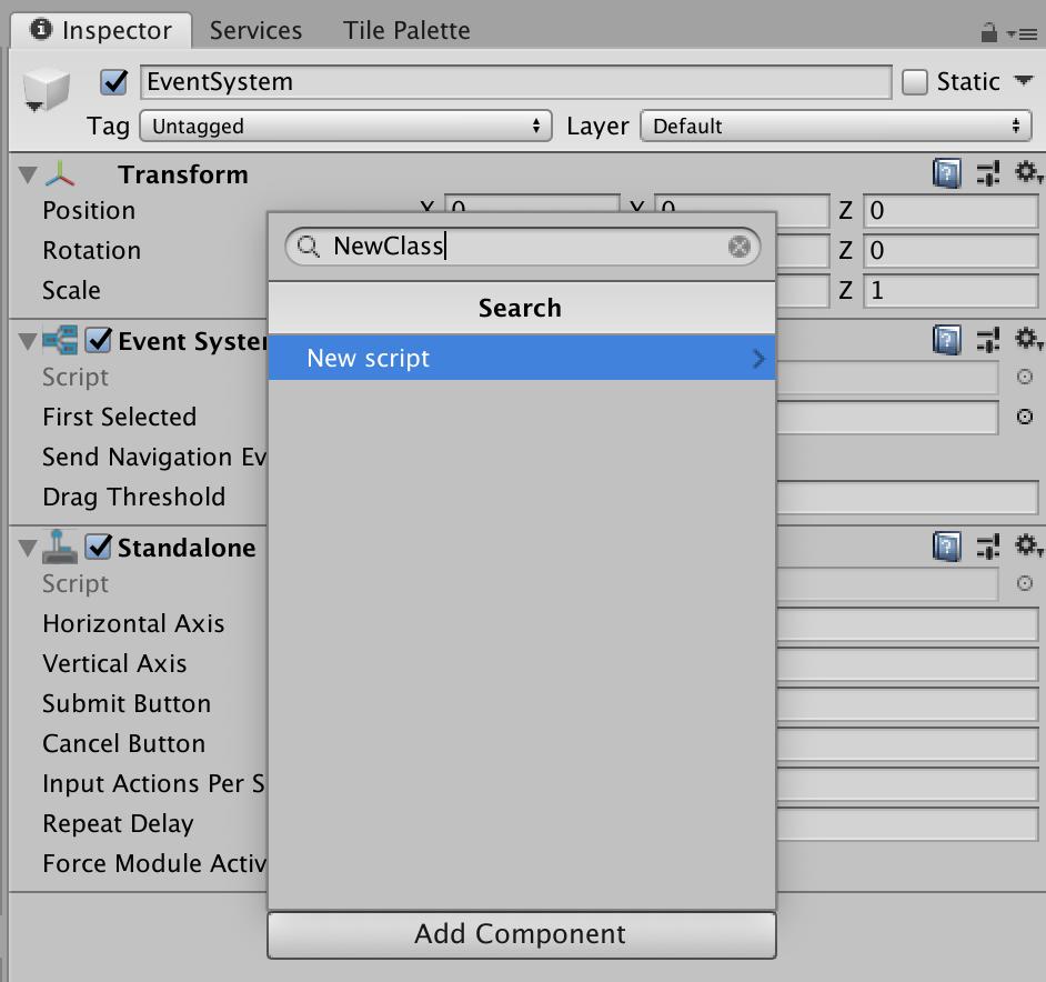 Unity Add Component Script