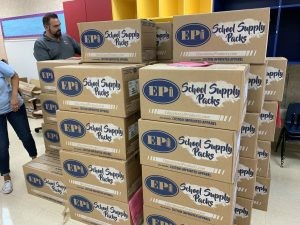 EPI School Supply Pack boxes