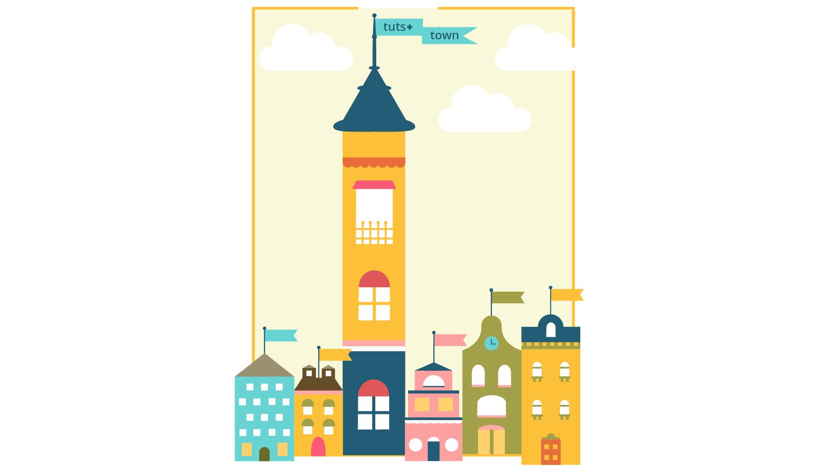 Tuts+ Town building illustration