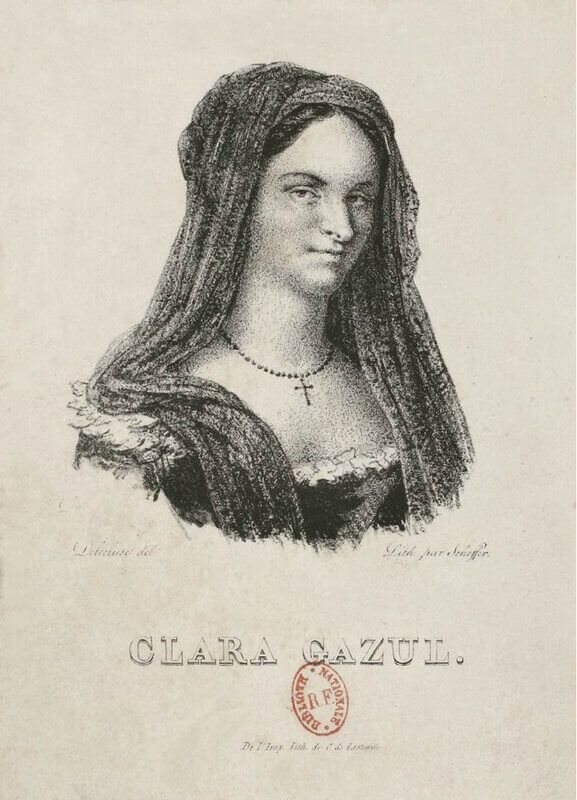 В портрете испанской актрисы Клары Газуль можно было без труда узнать Проспера Мериме, частого посетителя многих литературных салонов. Источник: izbrannoe.com