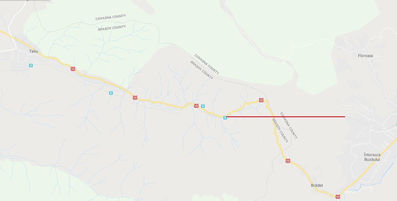 Tunelul Teliu pe Google Maps