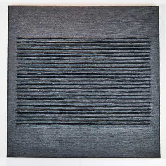 Fallowed: 1803.4, 16 in. x 16 in. (40.6 cm x 40.6 cm), acrylic plaster, yupo on canvas