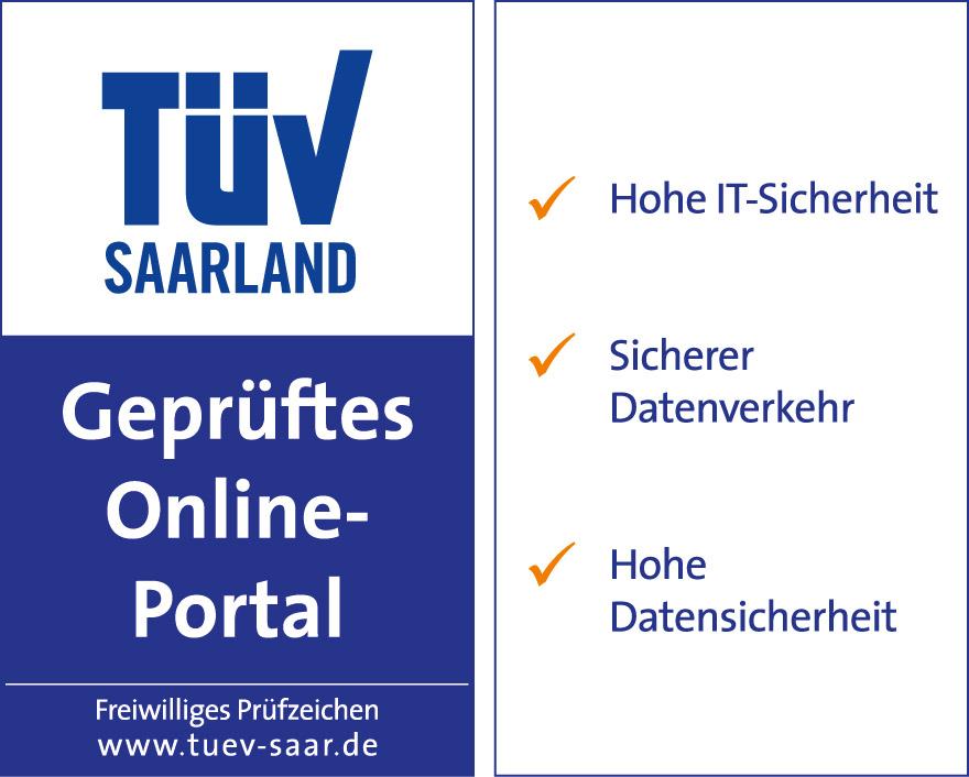 TÜV Saarland. Geprüftes Online-Portal