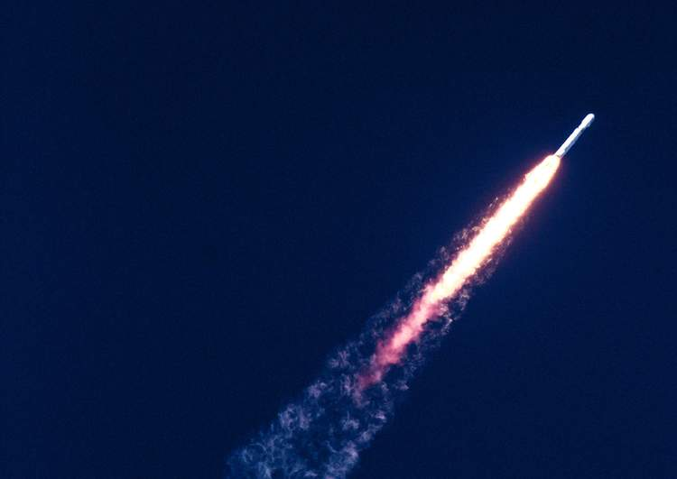 An image of a rocket representing website page speed