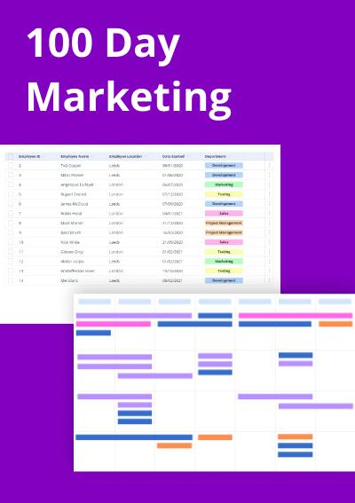 100 Day Marketing Plan