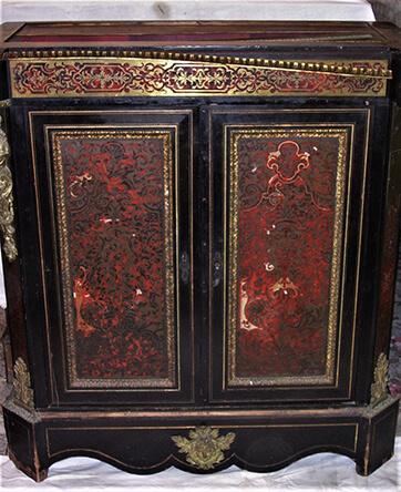damaged boule cabinet