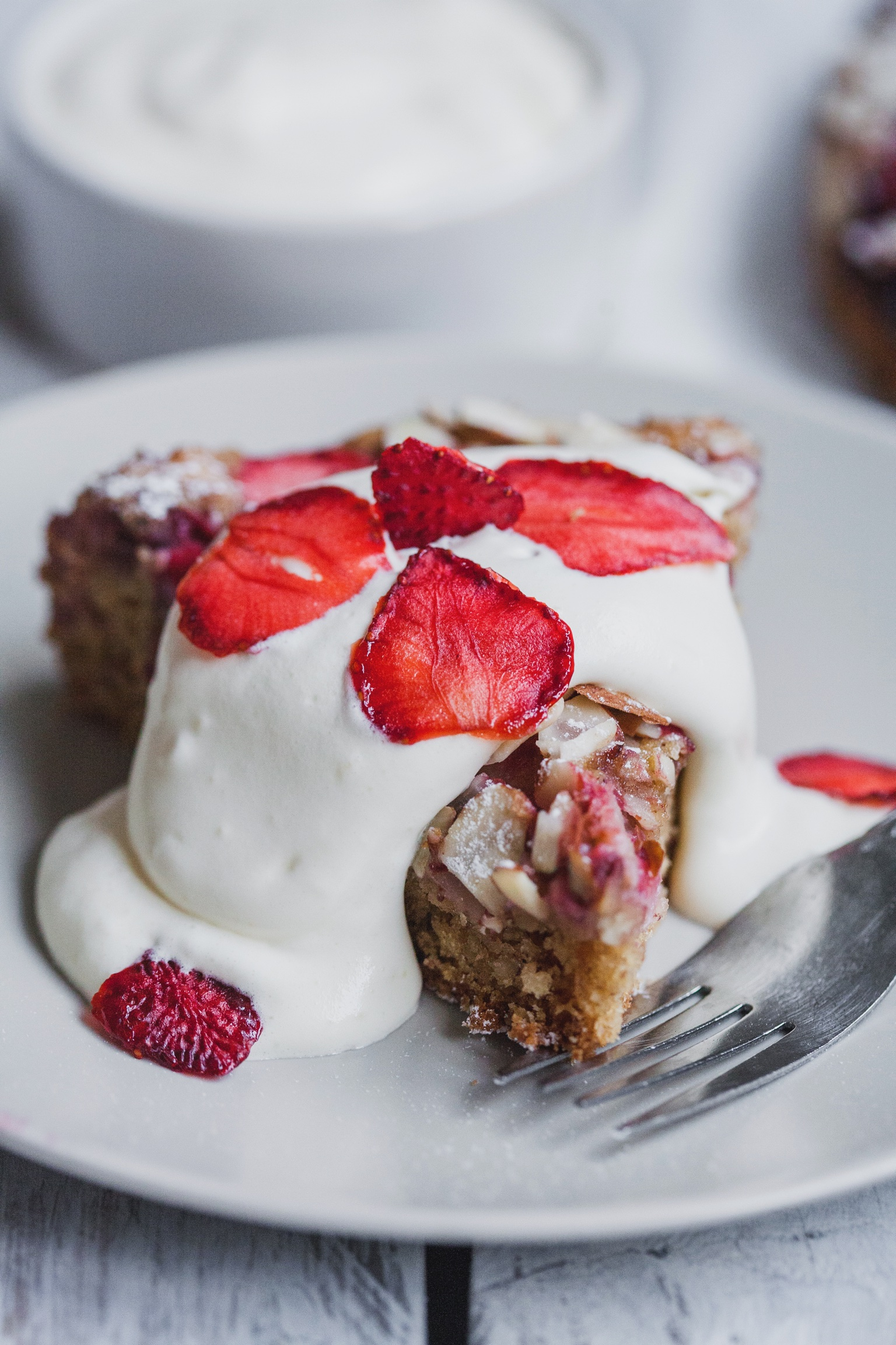 Strawberry Almond Tea Cake