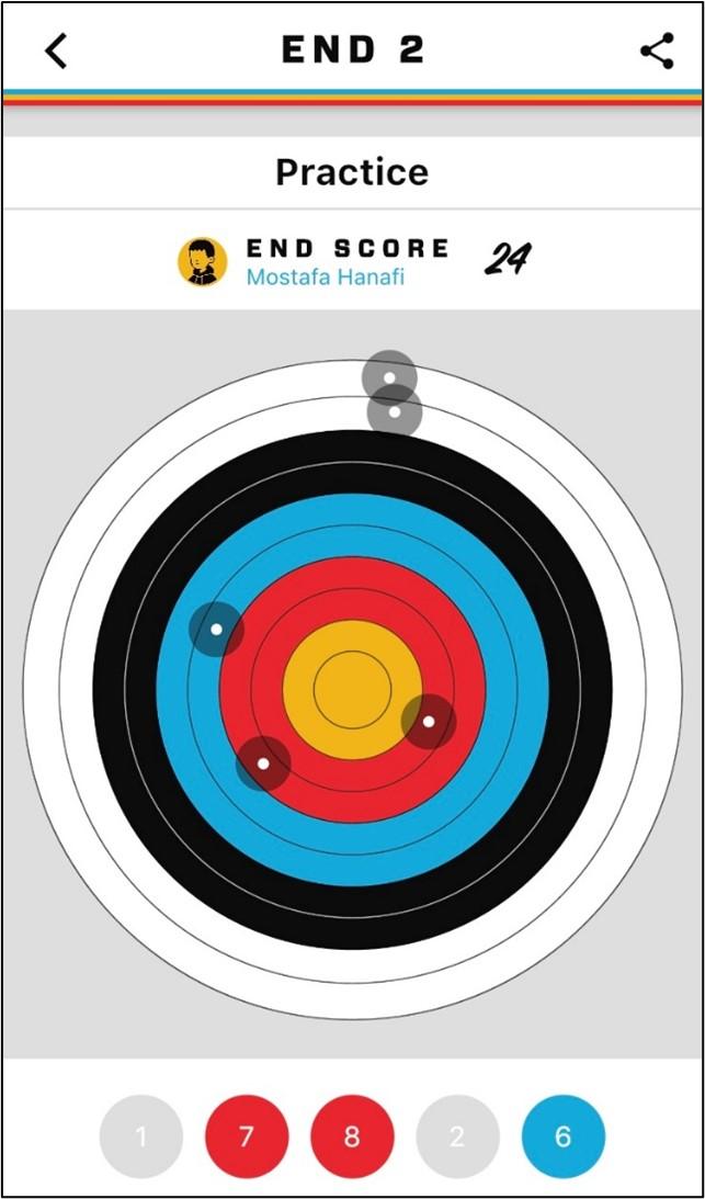 Visualization of shots at target