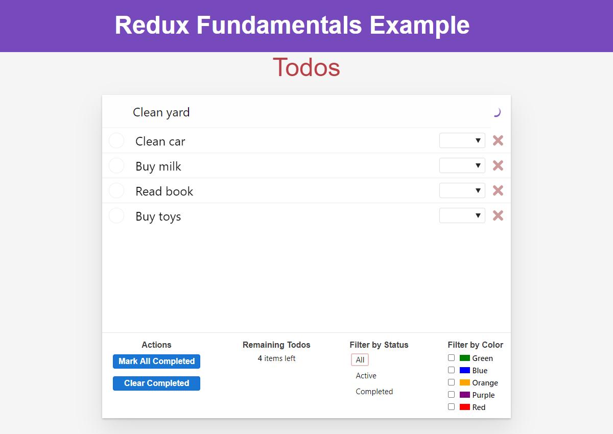 Todo app - component loading spinner
