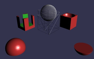 WebGL scene for CONSTRUCTIVE SOLID GEOMETRIES