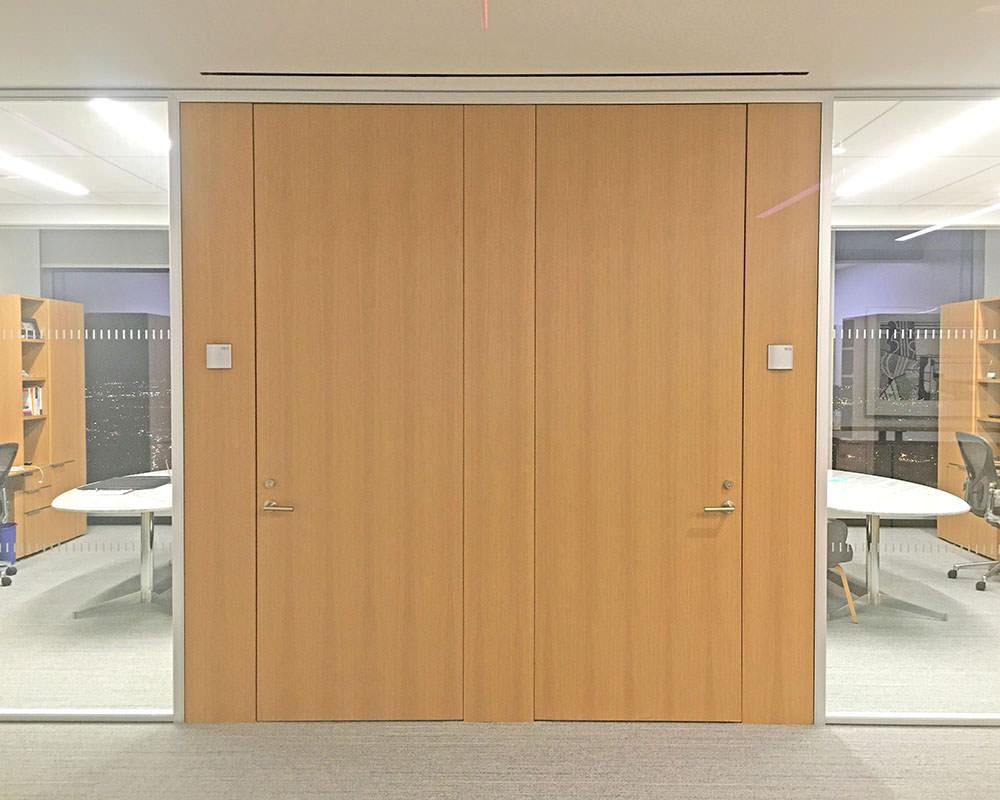 Wooden Doors for Different Rooms Sharing Wooden Frame