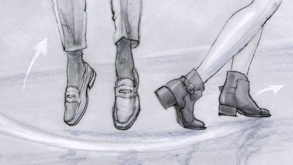 Dancing Feet Story branding pitch storyboard 05