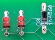 Two Zener and one 1N456A diode