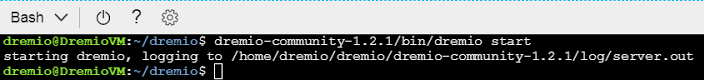 Starting up Dremio on Azure
