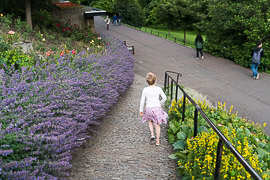 Princes Street Gardens in bloom.