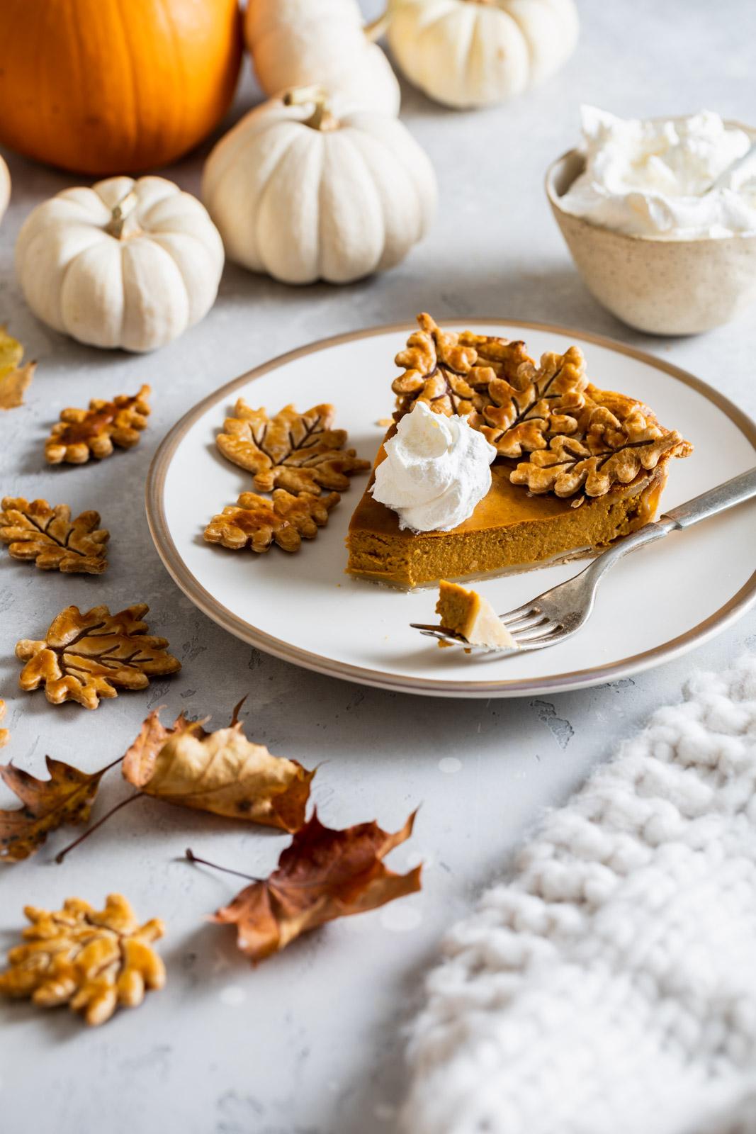 Brown Butter Maple Pumpkin Pie