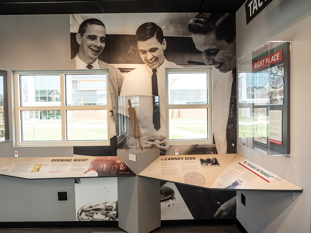Pizza Hut Museum wall graphics