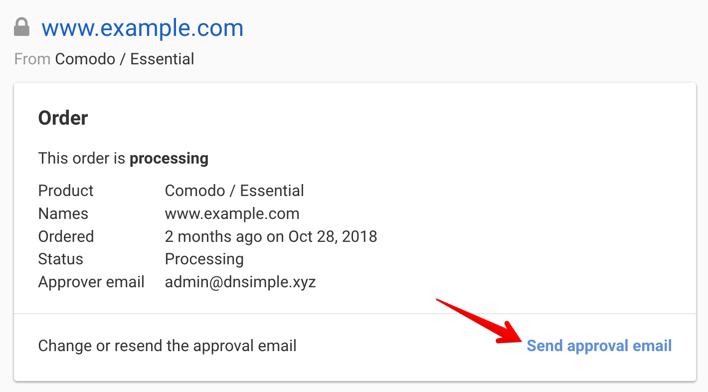 Resending your approval email