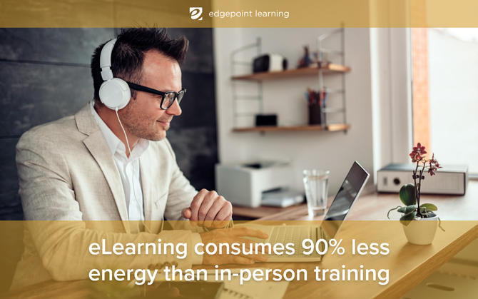 eLearning consumes 90% less energy than in-person training