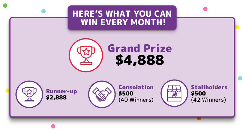 Here's what you can win every month!