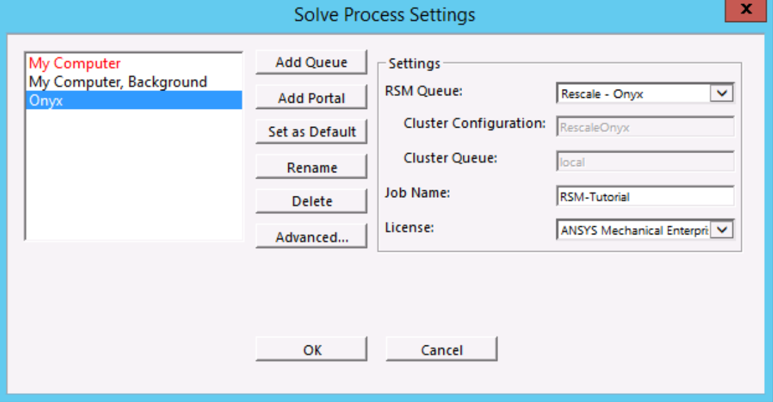 MECH GUI Finished Solve process settings