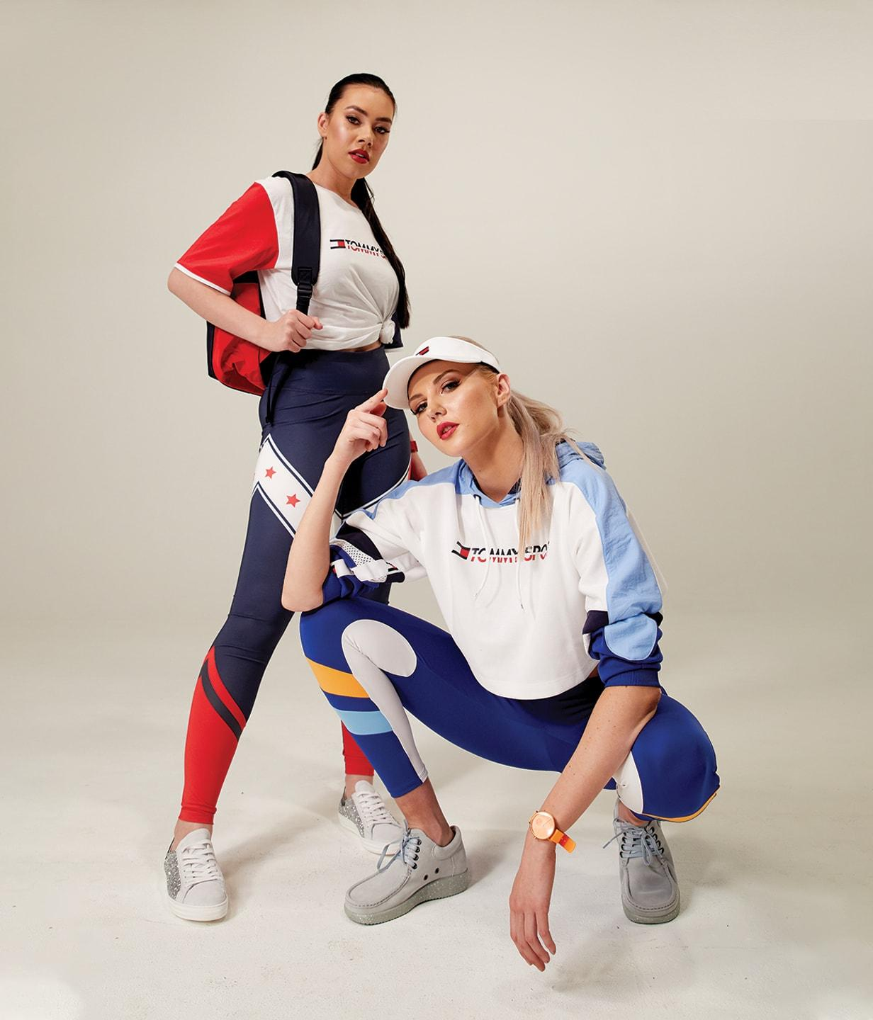 Two women in activewear