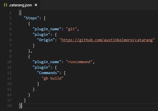 Catarang's build config file