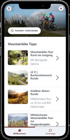 Touren in der digitalen Gästemappe