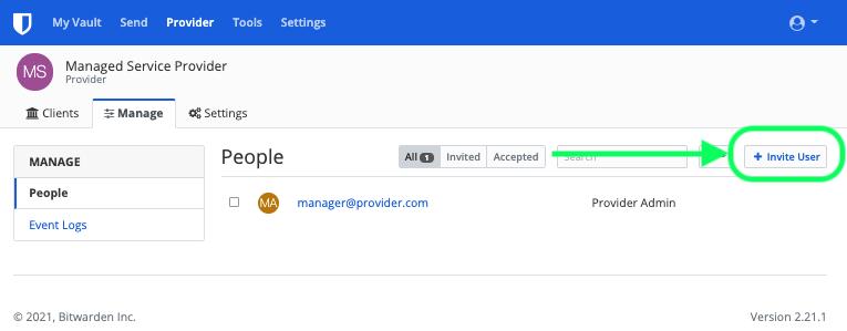 Invite Provider Users