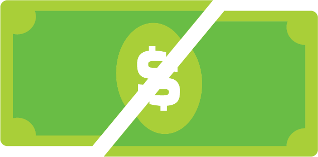 cut costs icon