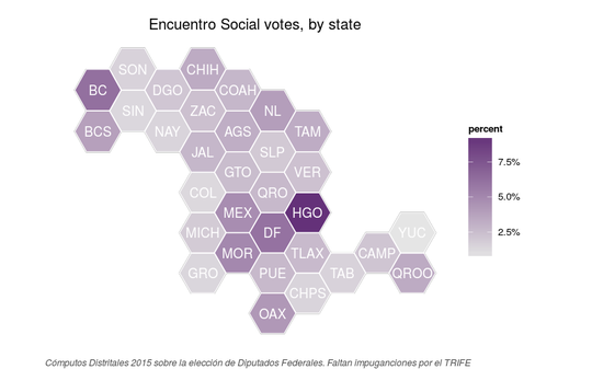 Map of Partido Encuentro Social