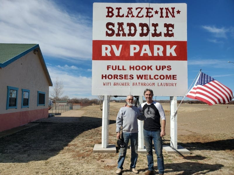 Michael Wolf of the TV series American Pickers at Blaze-In-Saddle RV Park