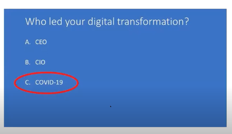 CIO or COVID-19 drove digitalisation?