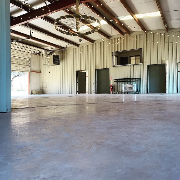 Large dancing space in the barn at Chapel Falls