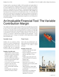 Keeping a Pulse on Profit: Understanding the Power of the Variable Contribution Margin in Manufacturing Left